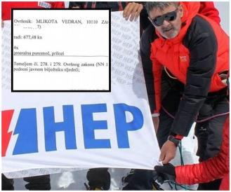 HEP ovršio Vedrana Mlikotu iako je njihov stijeg zabio na Himalaji
