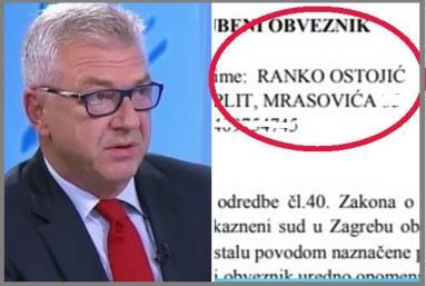 Ranko Ostojić pred ovrhom zbog generala Ante Gotovine