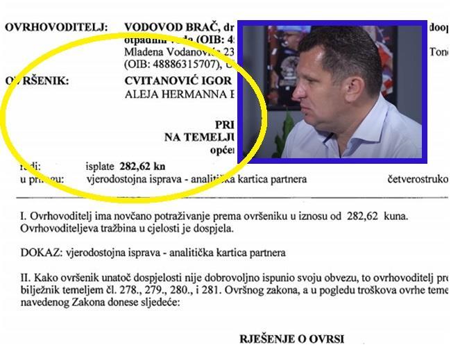 Omča ovrhe sustigla i Igora Cvitanovića