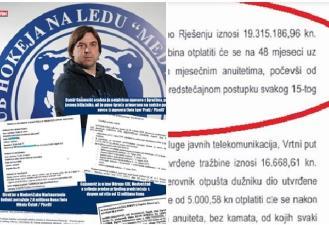 Damir Gojanović zadužio je KHL Medveščak za više od 19 milijuna kuna