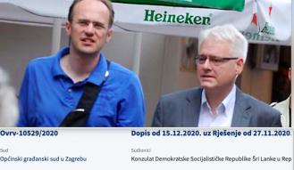 Josipovićev kompanjon Marko Vojković zbog konzulata Šri Lanke završio na sudu