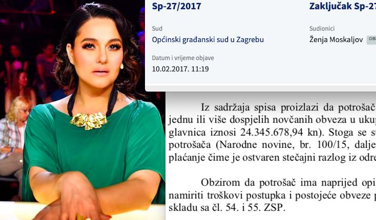 Muž Martine Tomčić zatražio osobni stečaj zbog duga od skoro 25 milijuna kuna