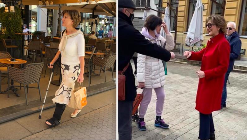Martinu Dalić ignorirali dok je klošarila sa štakom a sad joj se ulizuju na ulici