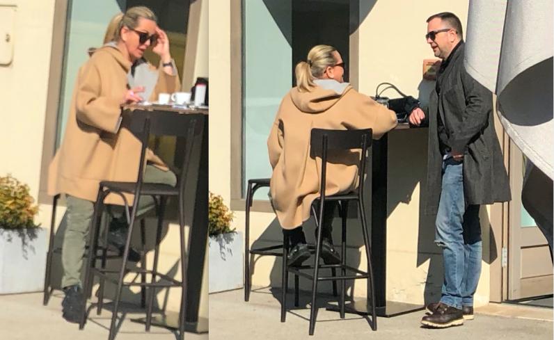 Bivša suprugatajkuna Dragutina Biondića na kavi s novim dečkom