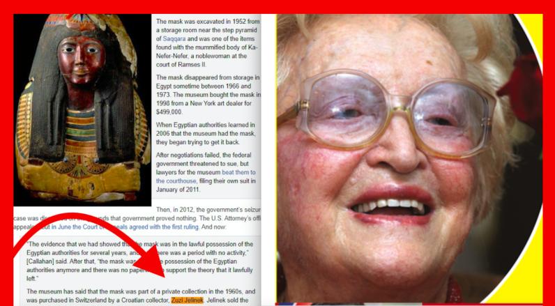 Faraonska tajna Žuži Jelinek isplivala je tek nakon njezine smrti