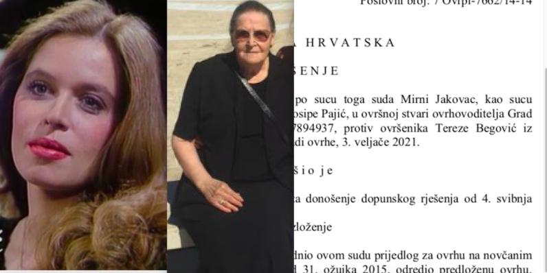 Grad Zagreb ovršio mamu Ene Begović zbog stana u kojem je živjela pokojna glumica
