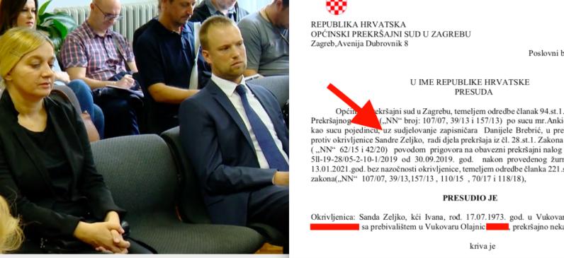 Ponovno osuđena tajnica Vlade RH koja je s Tomislavom Sauchom pokrala dnevnice