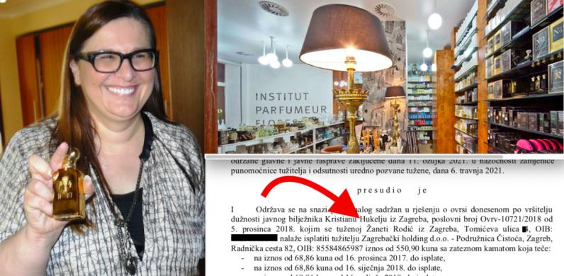 Zagrebačka kraljica parfema pokušala izbjeći sudsku ovrhu mizernim tvrdnjama kako Čistoća nije praznila kante