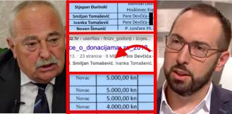 Otac i majka Tomislava Tomaševića donirali HDZ-u 10.000 kuna