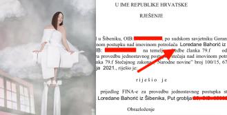 Fina tražila osobni BANKROT modne dizajnerice Loredane Bahorić