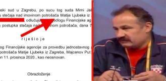 Zagrebački sud odbio Finin zahtjev za bankrotom Matije Ljubeka