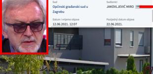 Ime Ćirinog psihijatra Mire Jakovljevića na sudskoj ploči zbog luksuznog stana