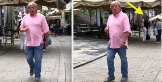 Davor Butković hipnotizirano hodao Tkalčom i privlačio pažnju prolaznica