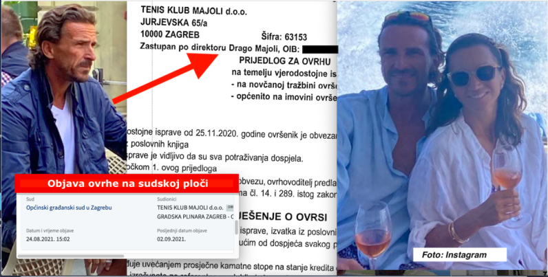 Dok je Iva Majoli krstarila s bratom njemu legla još jedna ovrha u Zagrebu