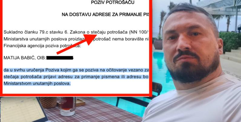 Matiju Babića iz Indexa traže u Zagrebu zbog bankrota dok on skiće po Vijetnamu i EU