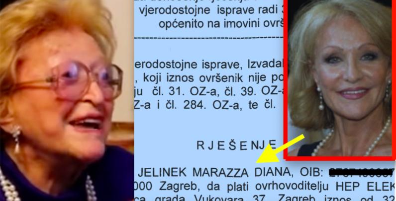 Kći Žuži Jelinek Diana Jelinek Marazza suočena s ovrhom u Zagrebu
