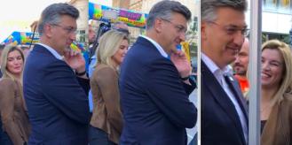 Ministrica Nikolina Brnjac tijesno pripijena uz premijera Andreja Plenkovića