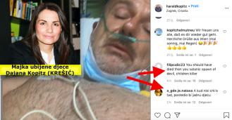 Monstrumu Haraldu Kopitzu koji je usmrtio djecu pišu na Instagramuda je trebao crknuti dok se liječio