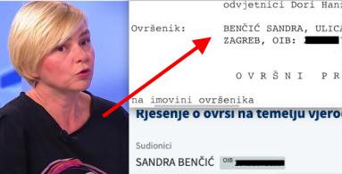 Saborska zastupnica Sandra Benčić opet pred ovrhom, meta je poznatog hrvatskog zatvorenika