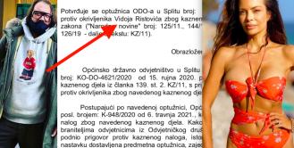 Muža Nikoline Pišek Vidoja Ristovića kazneno goni splitsko općinsko odvjetništvo