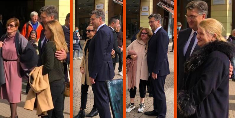 Zagrepčanke čekale u redu ali ne za testiranje već zagrljaj premijera Plenkovića