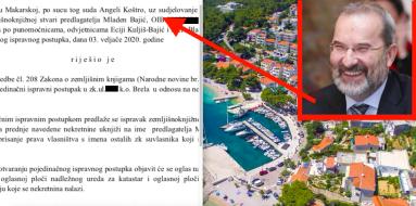 Mladen Bajić bogatiji za nekretnine u Brelima,  papire mu sredila supruga odvjetnica Ecija Kuljiš Bajić